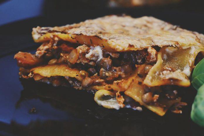 Vegán, Gluténmentes lasagne