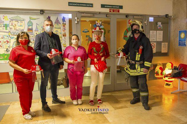 Tűzoltó a kórházban